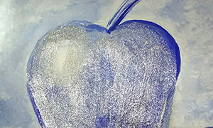 Blue blood apple by Anand Jon Alexander